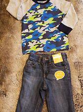 Gymboree BOYS SIZE 12-18 months Shirt & Fleece lined Jeans 2 Piece $50