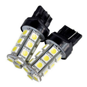 4x 7440 7443 T20 18 SMD 5050 LED Amber Tail Turn Signal Car Light Bulb Lamp