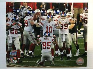 Super Bowl 42 New York Giants Eli Manning Glossy 8 X 10 Photo