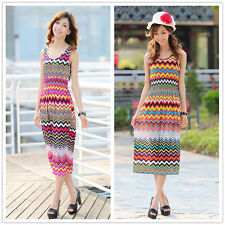 Unbranded Jersey Striped Maxi Dresses for Women