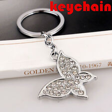 Silver Fashion Charm Metal Chain 1 Pc Keychain key Ring For Car Butterfly Lovely