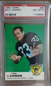 1969 Topps Football #68 Billy Cannon PSA 8 Only 4 Higher!!!
