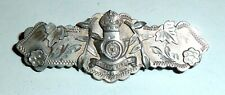 Yorkshire Light Infantry Sweetheart Brooch An Edwardian 1910 Silver King'S Own