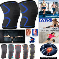 1*Knee Sleeve Compression Brace Support For Sport Joint Pain Arthritis Relief CC