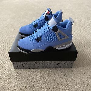 Nike Air Jordan 4 IV Retro University Blue 2021 GS Size 6Y 408452-400