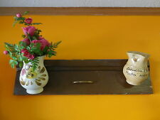 Old wooden drawer with applied two vintage jugs made in Italy-idea for planters