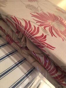 Laura Ashley Kimono Curtains  Cranberry W)162cm  L)137cm