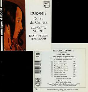 DURANTE  duetti da camera  CONCERTO VOCALE , J. NELSON , R. JACOBS