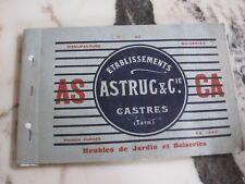CATALOGUE ANCIEN MEUBLES DE JARDIN, DE PLAGE ET DE CAMPING 1937 ASCA