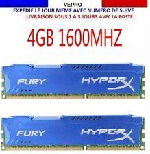 RAM 4GB/8GB Kingston HyperX FURY DDR3 CL10 240-Pin DIMM 1600 MHz