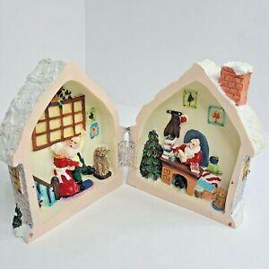 Santa Claus & Mrs Claus Snowman Merry Christmas Home Foldable Ceramic Decoration