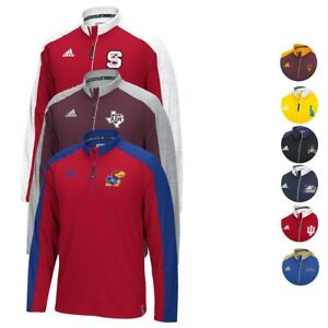 NCAA Adidas Team Men's Sideline Climalite 1/4 Zip Hi-Visibility Reflective Knit