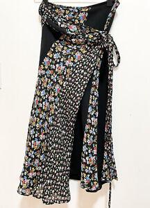tricot comme des garcons black wrap skirt (size S)
