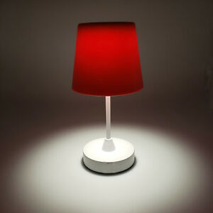 Roane LED Rechargeable Wireless 3 Steps Table Lamp for Indoor and Outdoor - Red