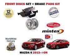 FOR MAZDA 6 2.0 2.2DT GJ  9/2012-->ON FRONT BRAKE DISCS SET + DISC PADS KIT