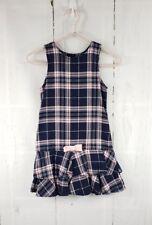 Gymboree Girl Pink Plaid Check Dress Sleeveless Ruffled Bow Bottom Size 5