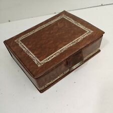 Vintage Made in Hong Kong Jewellery Box Faux Book Effect Plastic Cover