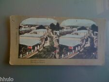 STC358 Panorama de Damas Damascus couleurs STEREO Photography Stereoview
