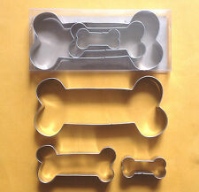 3 Size Dog Bone Baking Pastry Biscuit Stainless Steel Cookie Cutter Set