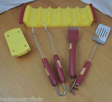 Oscar Meyer Hot Dog Stand BBQ Tools & Tray 6 Piece Wiener Set  #81214