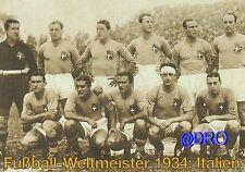 Fußball Weltmeisterschaft + Weltmeister Postkarten Serie + 1934 + ITALIEN