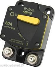 Eaton Bussman DC Circuit Breaker MRCB 60 amp CB187F-60 Manual Reset 187060F