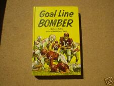 GOAL LINE BOMBER Hutto College Football Fiction 1964 HC