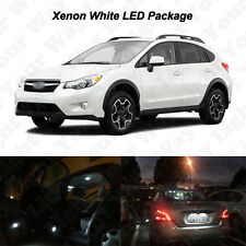 10 x White LED Interior Bulbs +Reverse + Tag Lights For 2013-2016 XV Crosstrek