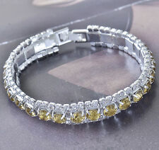 Around Champagne Cubic Zirconia 9k white gold filled Womens Bracelet F5900