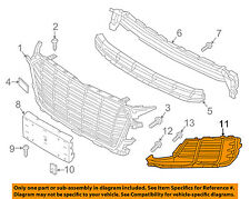 AUDI OEM TT Quattro Front Bumper Grille Grill-Outer Grille Right 8S08076849B9