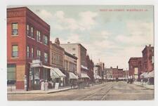 Waterloo,Iowa,West on 4th Street,Horse Drawn Wagons,Black Hawk County,c.1909
