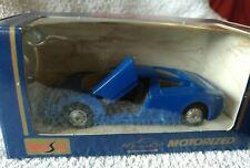 MAISTO MOTORIZED DIECAST MODEL CAR BUGATTI BLUE SUPERIOR