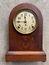Antique Seth Thomas Inlaid Wood Arched Mantel Clock 1920-30's Good Condition