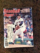 August 1986 Roger Clemens Boston Red Sox Baseball Digest Magazine OLD Vintage