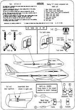 "Airwaves 1/144 Boeing 747 ""Jumbo"" Interior Grabado para Airfix Kit # AEC44005"