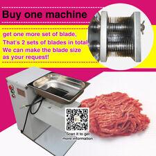 QE 2 blades food standard restaurant meat cutting machine,meat slicer machine