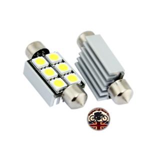Interior Light x2 CREE Chip LED 15W Upgrade Bulb 38mm Land Rover Defender