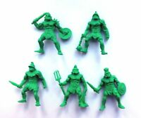 5pcs Roman Gladiators Plastic Toy Soldier (green color) 54mm 1/35 scale Tehnolog