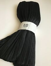 Gorgeous Pleats Please by Issey Miyake Black Wrap Scarf Madame T