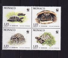Monaco  bloc  de 4  protection de la  nature  tortue  de 1991  num: 1805/08  **