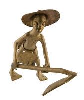 Statuetta,Statuetta Africana IN Bronzo,Antico Antenato Tipografica African-Af