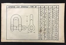 Harland & Wolff 1930's Eng Drawing - GENERAL USE SHACKLE TYPE B (P4), Titanic