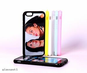 PERSONALISED CUSTOM PHOTO & TEXT PRINTED case cover fits iPhone 7-7Plus Silicone