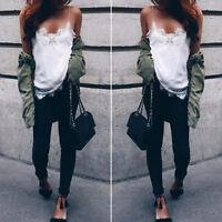 Women Summer Lace Chiffon Camisole Vest Sleeveless Shirt Blouse Casual Tank Tops