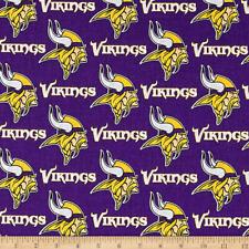 Minnesota Vikings NFL Fabric 100% Cotton  1/4 yd 9