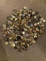Large Lot of Over 265 Gold Tone Blazer Coat, A Few Small Military Buttons