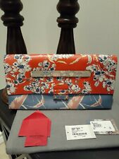 AUTHENTIC VALENTINO Garavani Mime Floral-Print Leather Clutch Bag, Mult