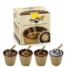 12 CHOCUP, MINI GLASS CUP POD A CHOCOLATE FOR COFFEE, CHOCOLATE