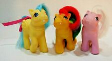 G1 VINTAGE MY LITTLE PONY FIRST TOOTH BABY BOUNCY, Lickety Split & Tic Tac Toe