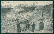 L'Aquila Pescina Terremoto Militari cartolina QQ3991